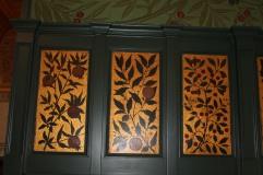 Golden adornment in the William Morris Refreshment Room