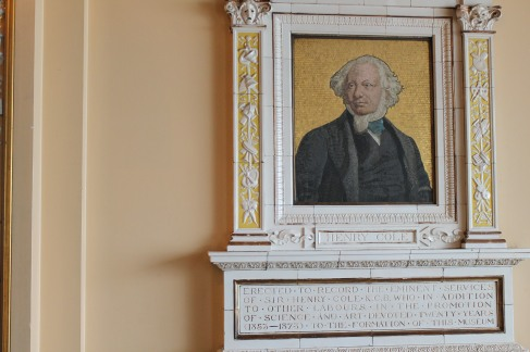 William Morris bust in Refreshment room which was designed in his honor