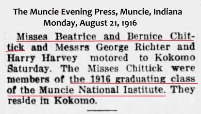 GRADUATED1916MUNCIEINSTITUTEMuncie_Evening_Press_Mon__Aug_21__1916_